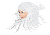 White hair girl