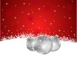 Red Christmas background from snowflakes