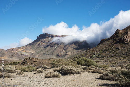 clouds over the teide