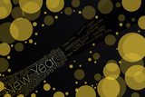 Bottle of champagne - typographic background poster