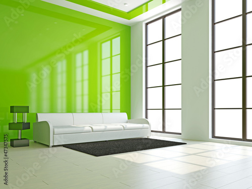 White sofa in the livingroom