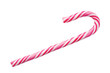 Colorful christmas candy cane. Isolated on white