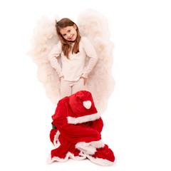 Weihnachtsengel und beleidigter Weihnachtsmann