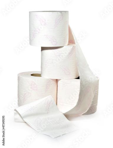 Rollos de papel.