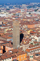 view from Asinelli Tower, Bologna