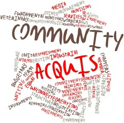 Word cloud for Community acquis