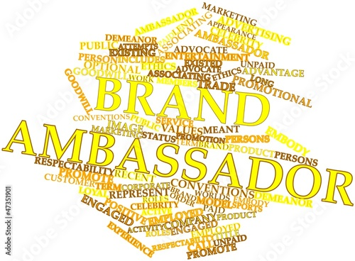 Word cloud for Brand ambassador