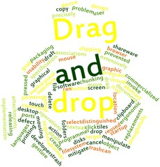 Word cloud for Drag and drop