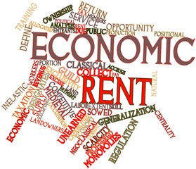 Word cloud for Economic rent