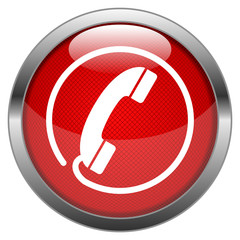 Vector Button Hotline