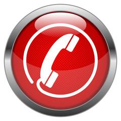 Vector Button Hotline