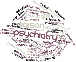 Word cloud for Liaison psychiatry