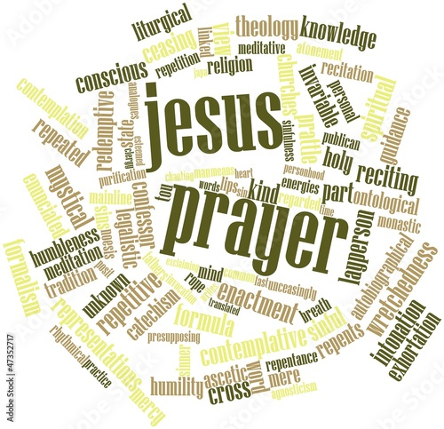 Word cloud for Jesus Prayer