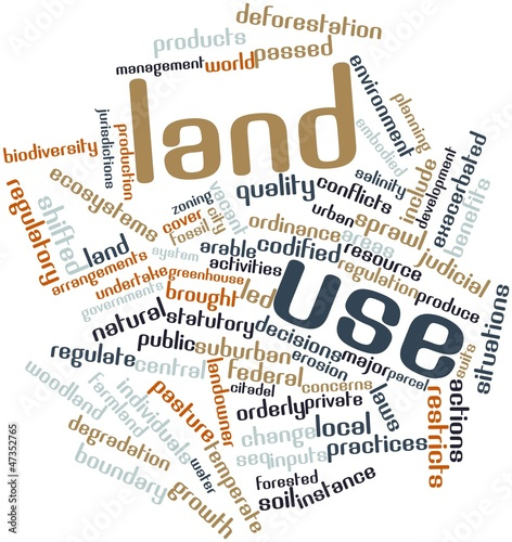 Word cloud for Land use