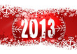 2013 new years illustration with christmas ball