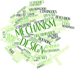 Word cloud for Mechanism design