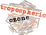 Word cloud for Tropospheric ozone poster