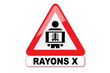 Panneau attention aux rayons X