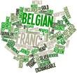 Word cloud for Belgian franc