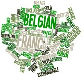 Word cloud for Belgian franc