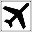 Schild weiß - Abflüge