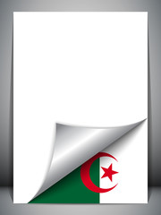 Algeria Country Flag Turning Page