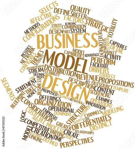 Word cloud for Business model design