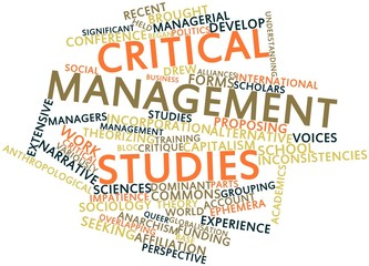 Word cloud for Critical management studies