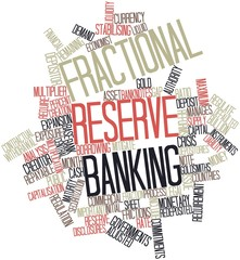 Word cloud for Fractional reserve banking