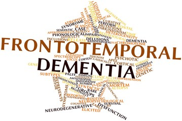 Word cloud for Frontotemporal dementia