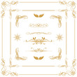 gold decorative  elements