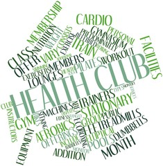 Word cloud for Health club
