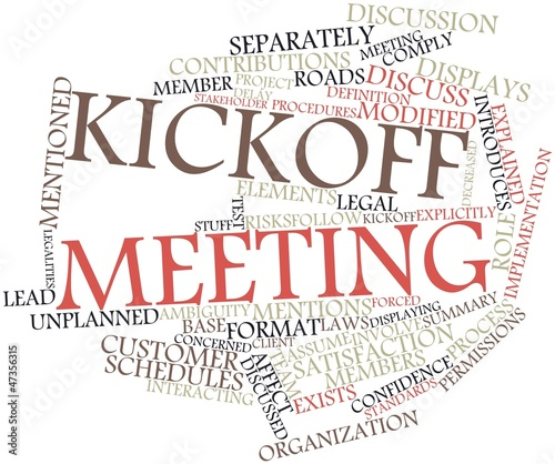 Word cloud for Kickoff meeting