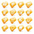 Orange website and internet icons 2