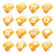 Orange website and internet icons 1