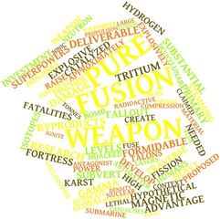 Word cloud for Pure fusion weapon