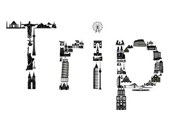 Word trip made of sights