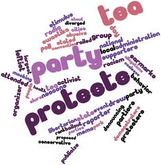 Word cloud for Tea Party protests