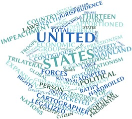 Word cloud for United States