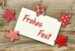 Frohes Fest - Weihnachtskarte