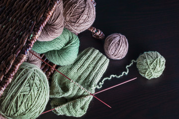 Knitting from natural wool