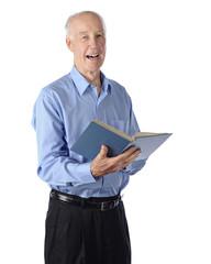 Senior Man Sings Solo
