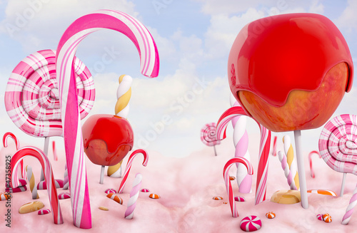 Wall mural Candy land