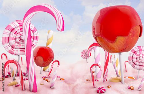 Foto op Plexiglas Dessert Candy land