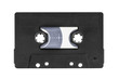 Vintage Black Audio Cassette Isolated
