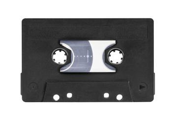 Vintage Black Audio Cassette Isolated