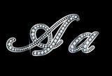 Script Diamond Bling Aa Letters poster