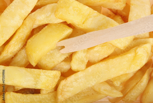 Chips with Chip Fork Takeaway