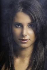 Glamour girl portrait color image