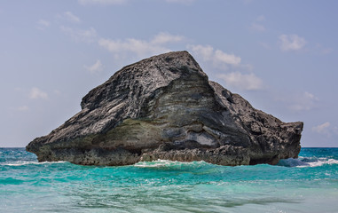 Large Rock in Horseshoe Bay, Bermuda